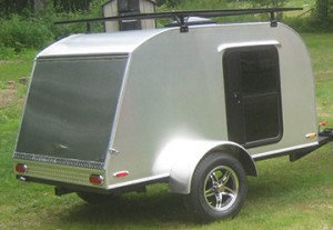 4 by 8 Teardrop Camper Trailers with top rack