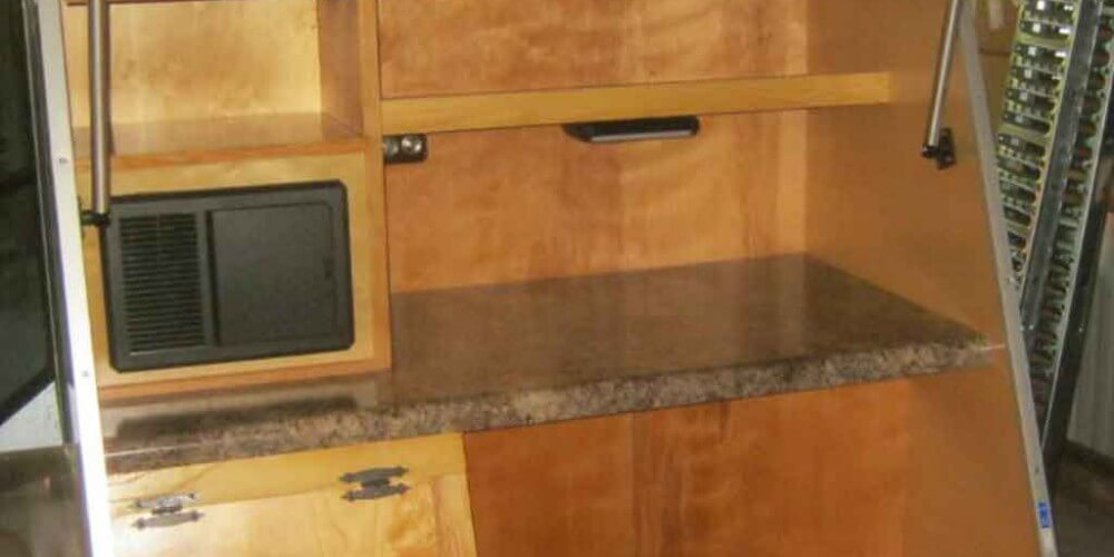 4 by 8 teardrop camper kitchen galley