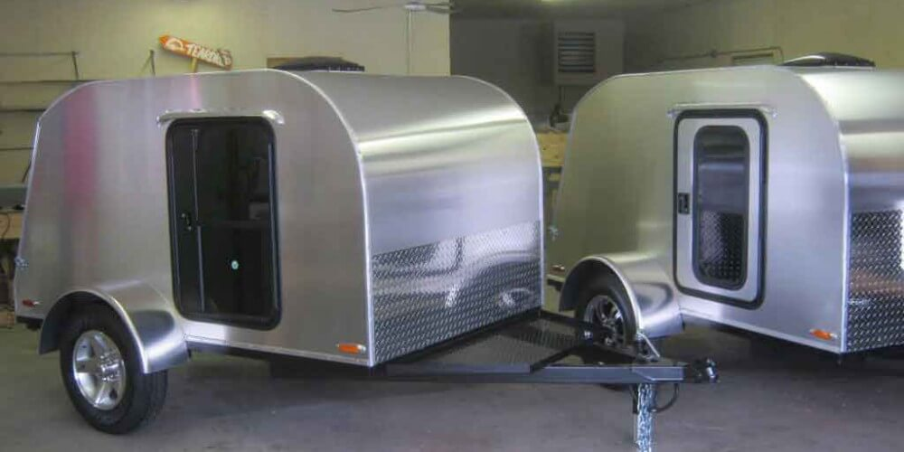 New 4' by 8' teardrop campers